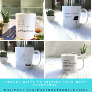 Travel-themed Mugs from Mazzocato Collection