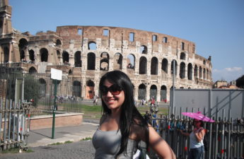 Full view of the Colosseum in Rome Italy