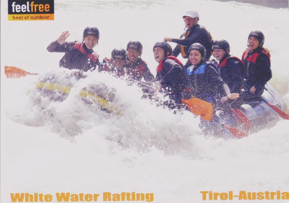 Contiki White Water Rafting in Tirol