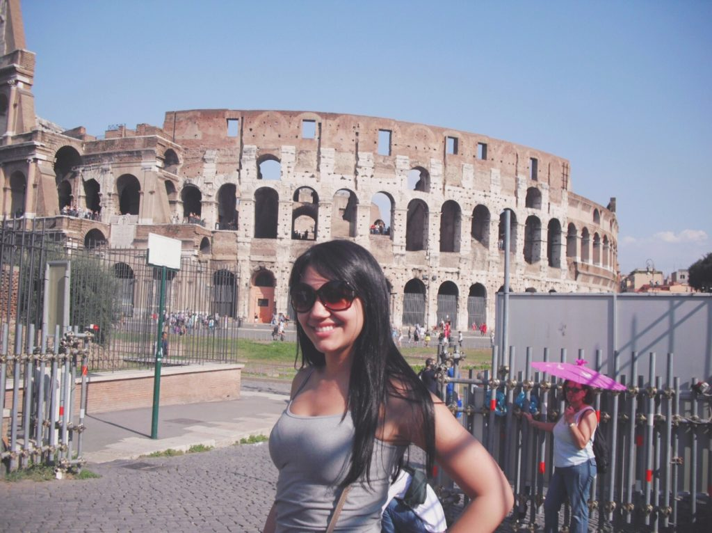 Colosseum in Rome with Contiki